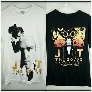 Justin Timberlake concert t shirts